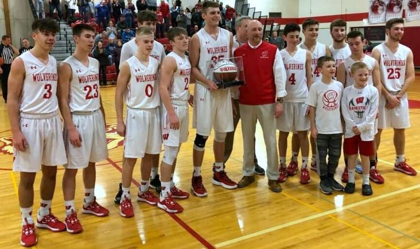WOODRING SCORES 1,000TH POINT; WAVERLY FALLS TO FORKS, 58-47