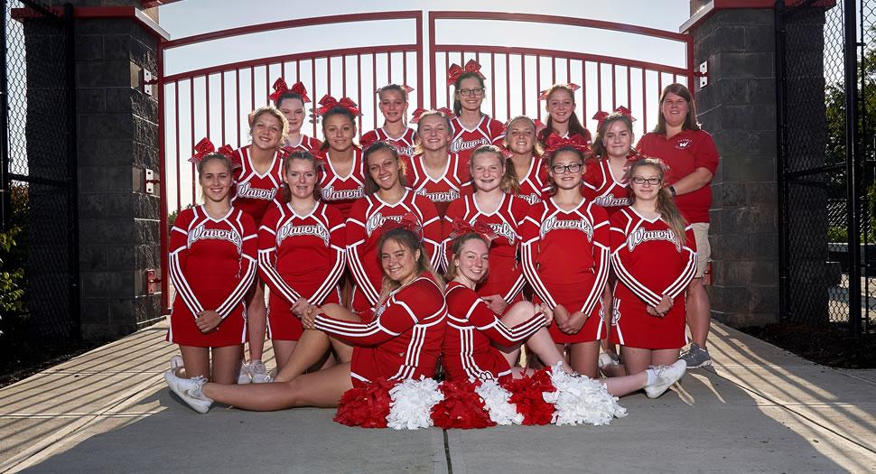 Waverly Wolverines Football Cheerleading Squad
