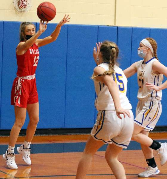 WAVERLY'S PRESSURE TOO MUCH FOR TIOGA IN 79-41 WIN