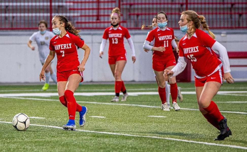 WAVERLY FALLS TO NOTRE DAME, 2-1, IN OVERTIME