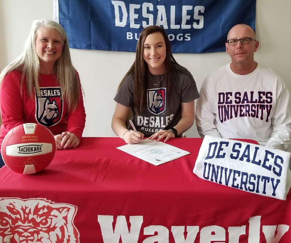 WAVERLY'S LEWIS SIGNS TO PLAY COLLEGIATE VOLLEYBALL AT DeSALES UNIVERSITY