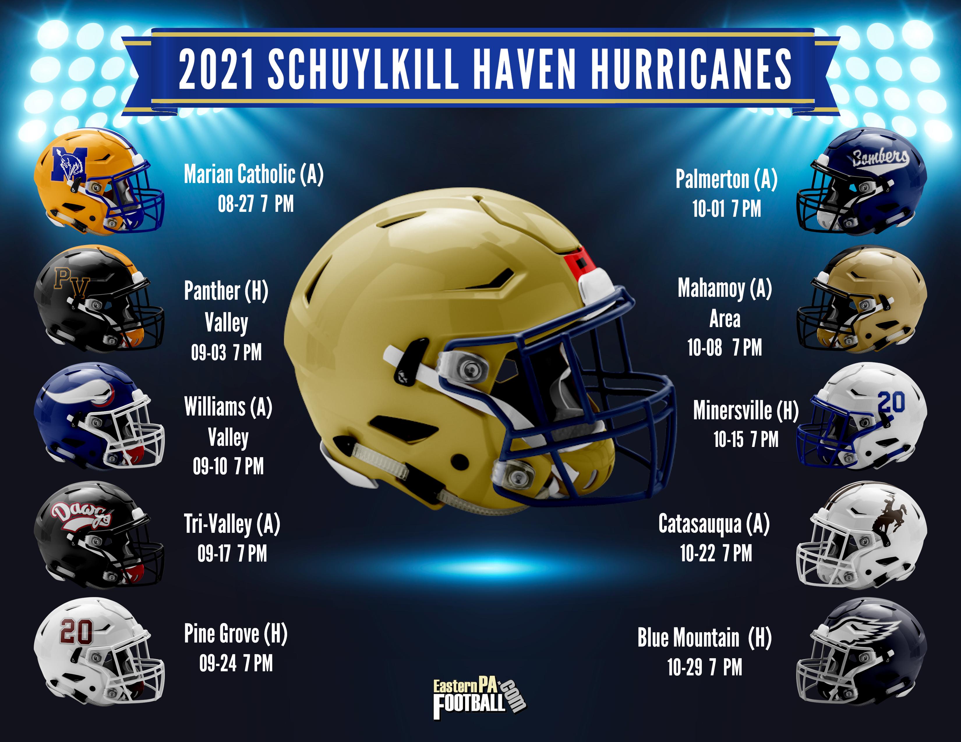 2021 Schuylkill Haven Hurricanes - Varsity Football Schedule