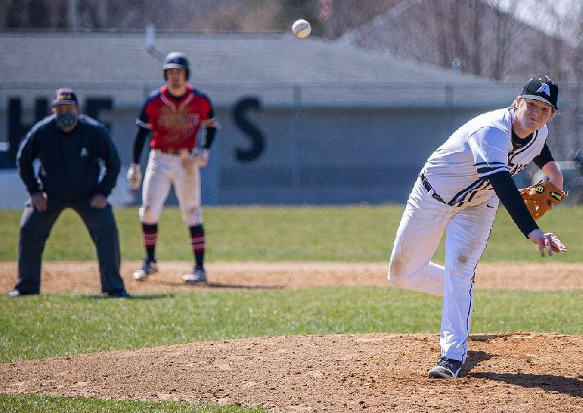 EARLY OUTBURST PROPELS SAYRE TO 16-1 WIN OVER ATHENS