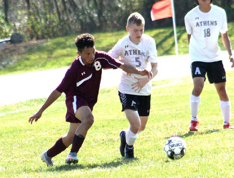 EARLY GOALS LIFT ATHENS TO 2-0 WIN OVER NEB