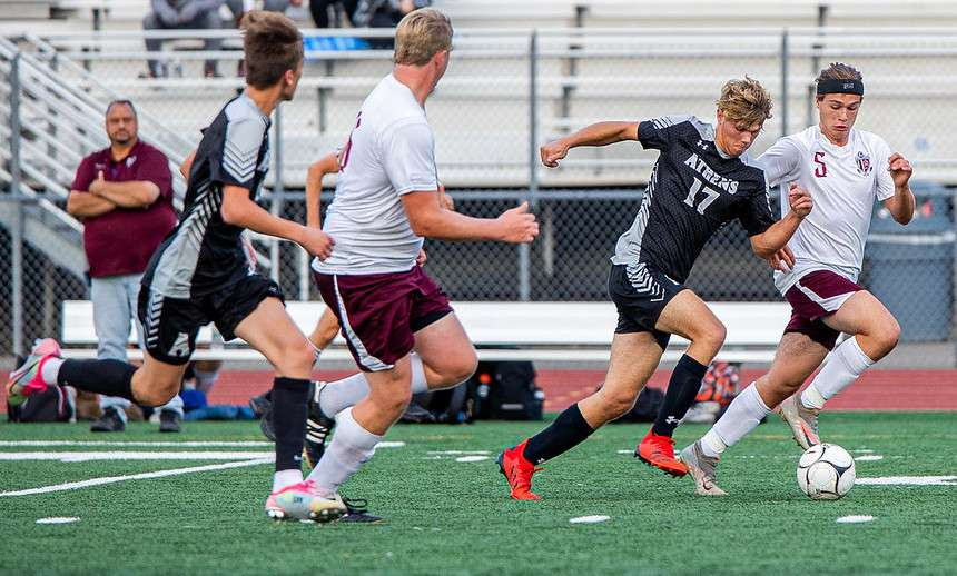 ATHENS RIDES BIG SECOND HALF TO 5-0 WIN OVER NEB