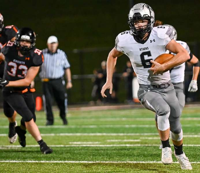 LISTER LEADS ATHENS TO 35-0 WIN OVER TOWANDA