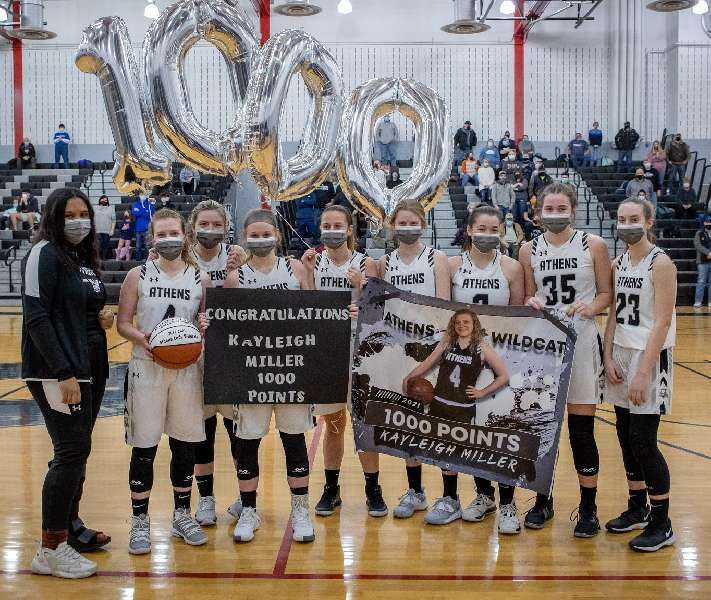 MILLER NETS 1,000TH CAREER POINT IN 56-13 WIN OVER COWANESQUE VALLEY