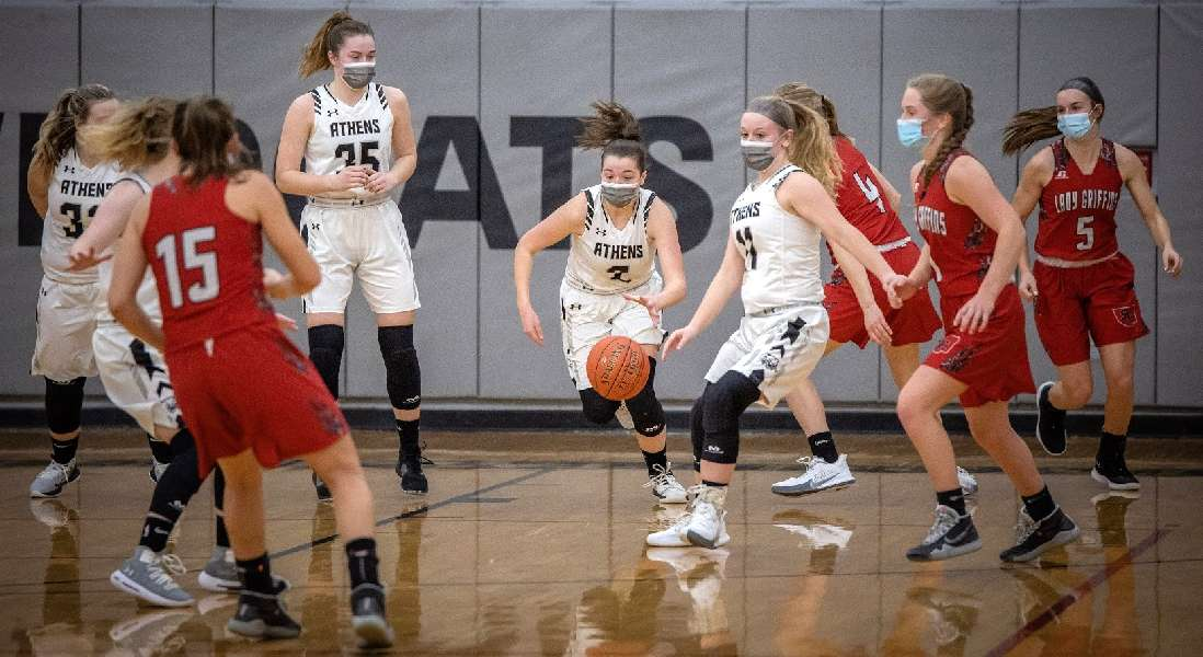 ATHENS LETS BIG LEAD SLIP AWAY; RE-GROUPS TO EDGE SULLIVAN COUNTY IN DOUBLE-OT