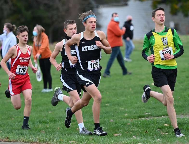 LEWIS LEADS ATHENS BOYS TO SECOND PLACE AT NTL JUNIOR HIGH CROSS COUNTRY MEET; BRONSON WINS GIRLS RACE