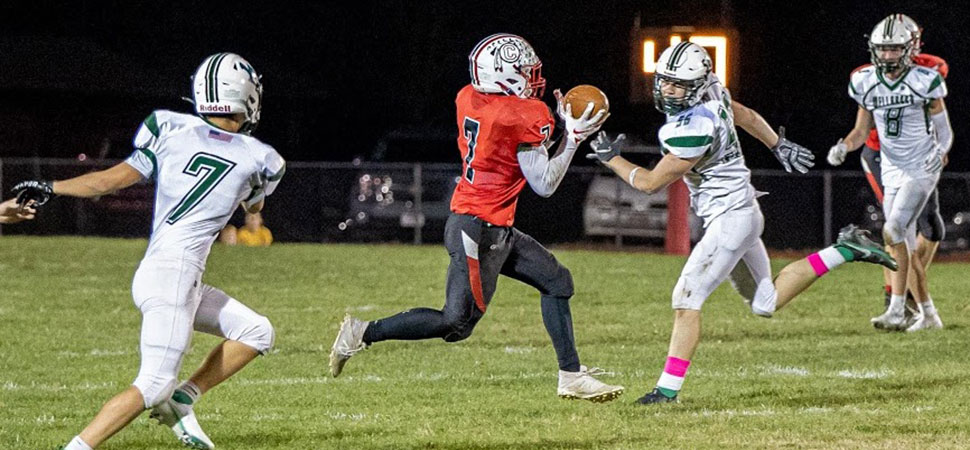 Canton sets tone early in 39-13 win over Wellsboro.