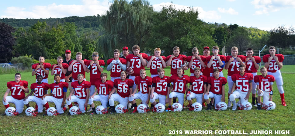 2019 Canton Warriors Middle School Football Roster