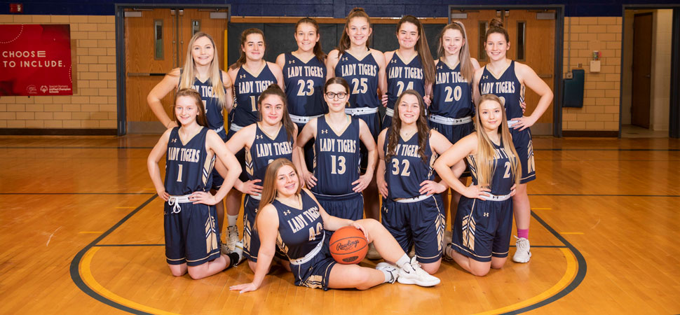 2019 North Penn-Mansfield Tigers Varsity Girls Basketball Roster
