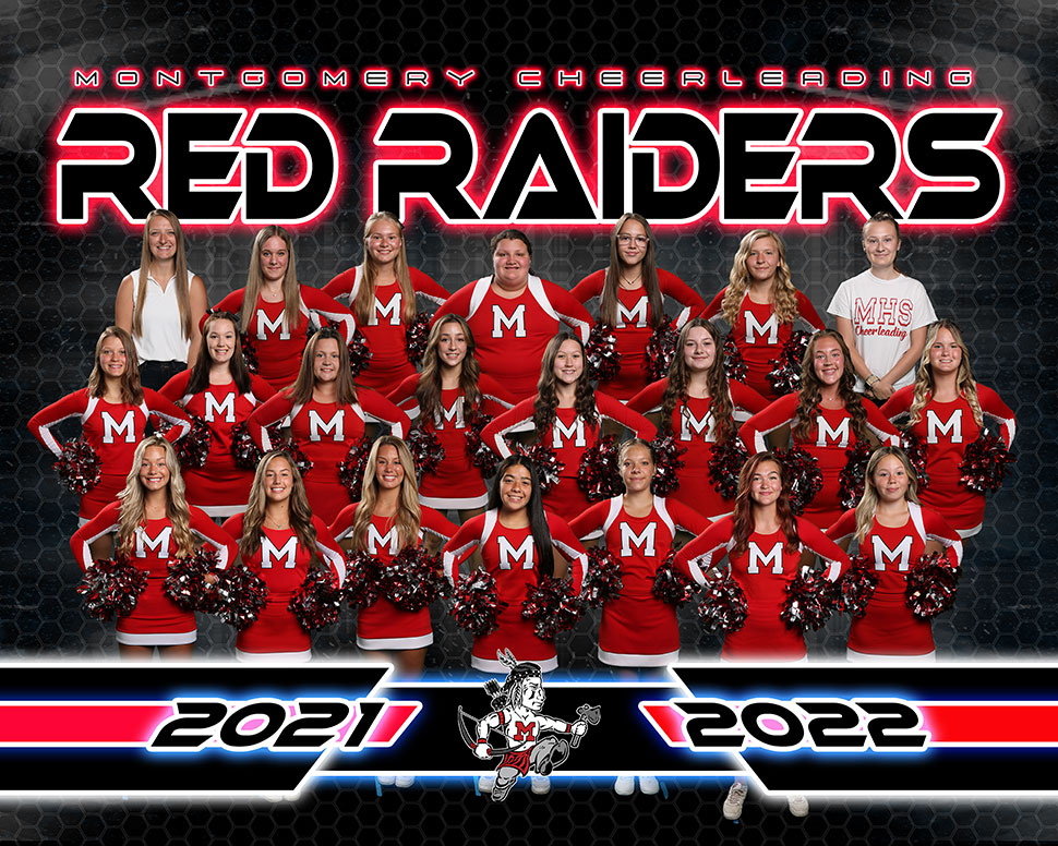 Montgomery Red Raiders Football Cheerleading Squad