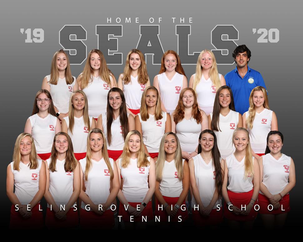 2019 Selinsgrove Seals Varsity Girls Tennis Roster