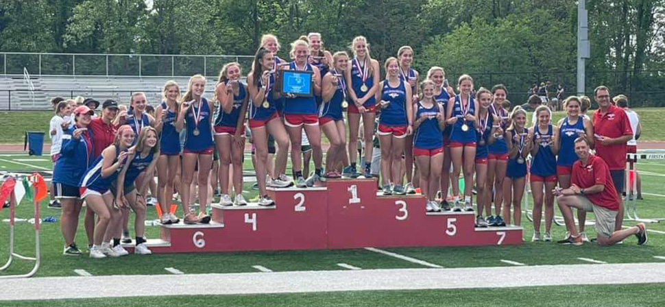 Seals Girls Track and Field Team Claims District Title