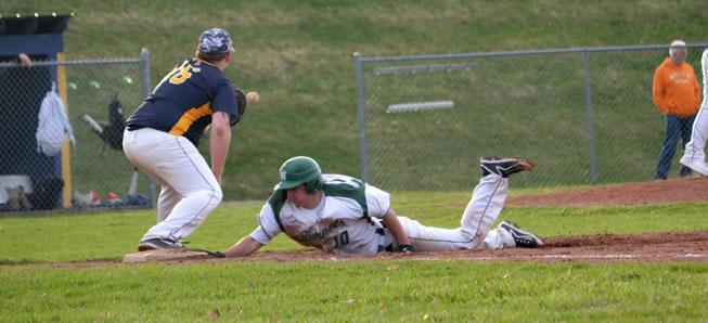 Hornet baseball downs Mansfield, 12-4.