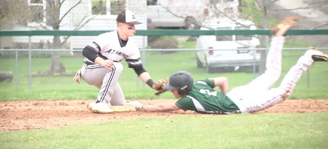 Hornet baseball falls to Athens, 6-3