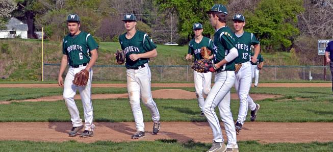 Hornet baseball clobbers Canton, 11-1