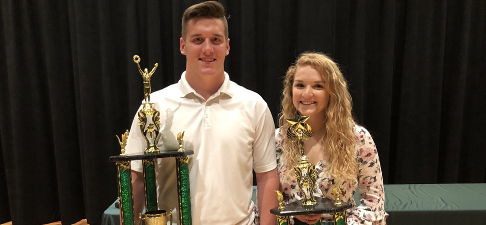 Brown, Poirier named Athletes of the Year.