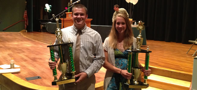 Barnes and Rogers named Athletes of the Year.