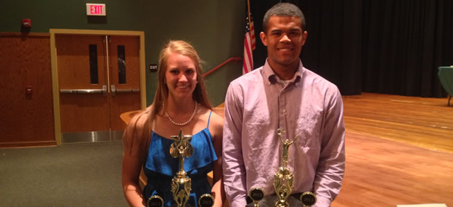 Jackson, Marple named Athletes of the Year.