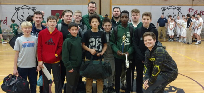 Middle School boys finish 3rd at NEB Tournament