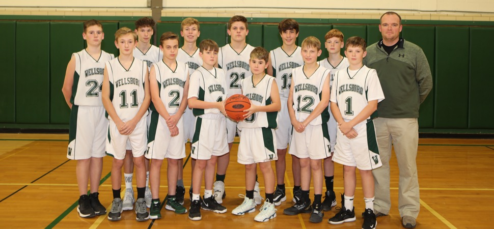 2019 Wellsboro Hornets Middle School Boys Basketball Roster
