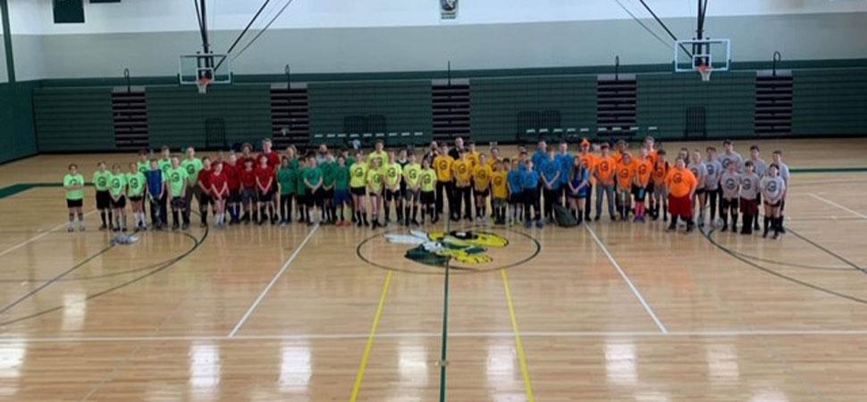 Hornet Soccer team holds indoor tournament.