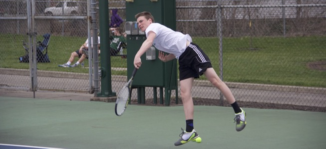 Boys tennis picks up first wins of season