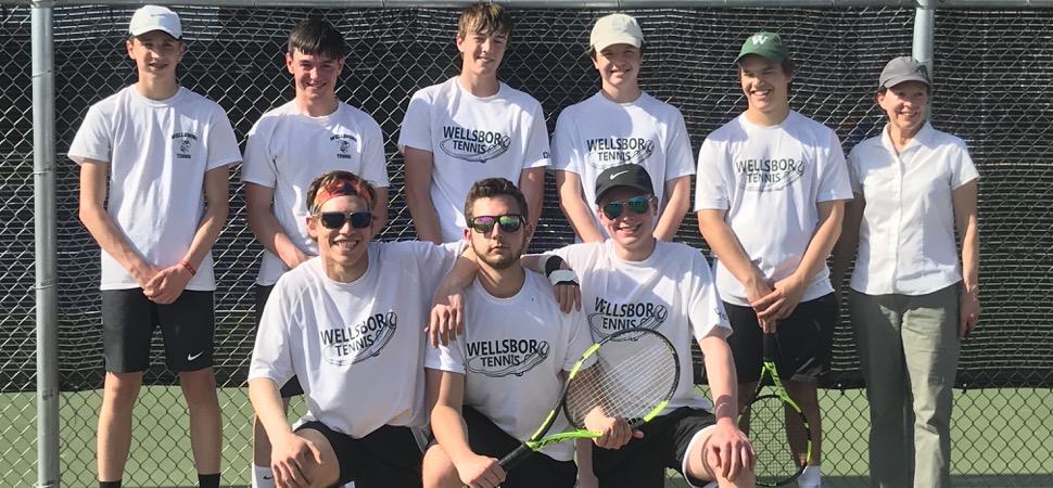 Hornets top Hughesville 3-0 in District Tennis Quarterfinals