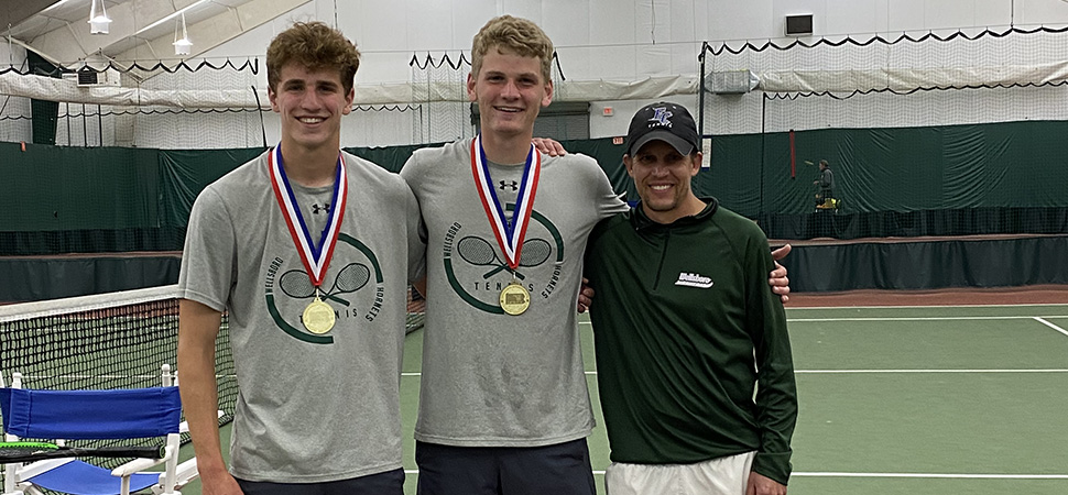 Poirier, Singer claim D4 Boys Tennis doubles gold