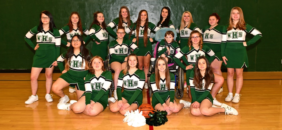 Wellsboro Hornets Basketball Cheerleading Squad