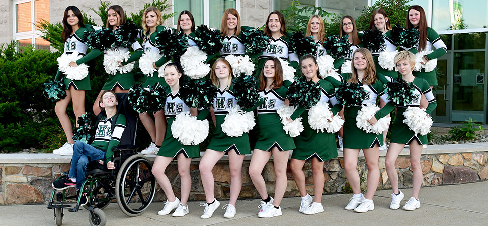 2021 Wellsboro Football Cheerleading Squad