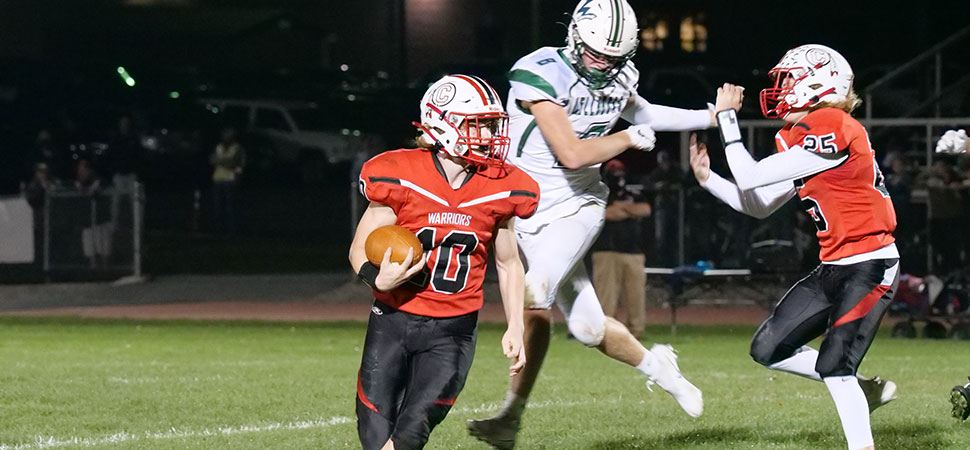 Hornets score two late touchdowns in loss to Canton
