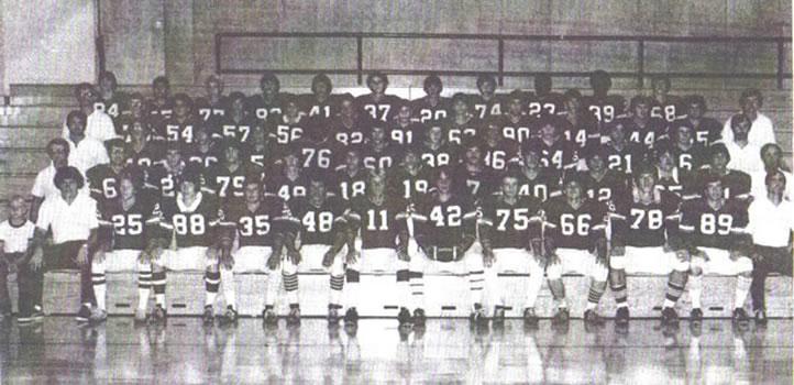 1977 Wellsboro Hornets Varsity Football Roster