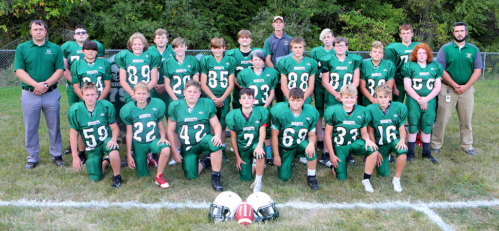 2020 Wellsboro Hornets Middle School Football Roster