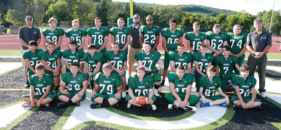 2021 Wellsboro Middle School Football Team