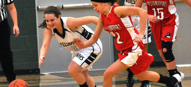 Lady Hornets fall to Williamsport in Holiday Tournament.
