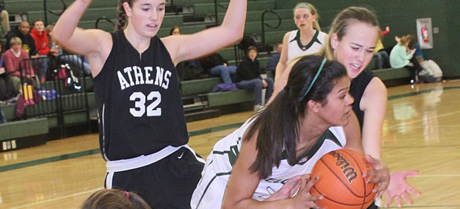 Lady Hornets fall to Athens, 37-31