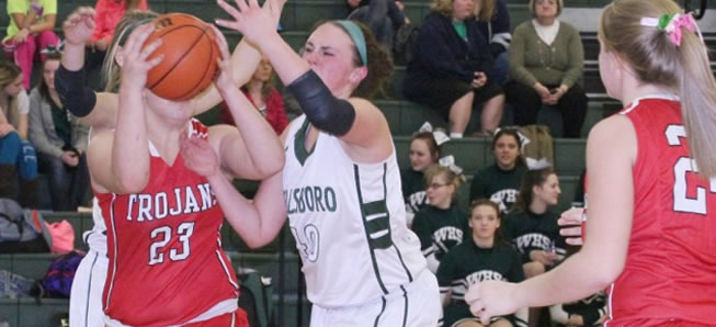 Lady Hornets fall to Troy, 43-32