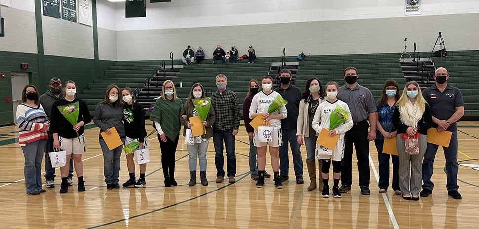Lady Hornets score big Senior Night win over Troy.