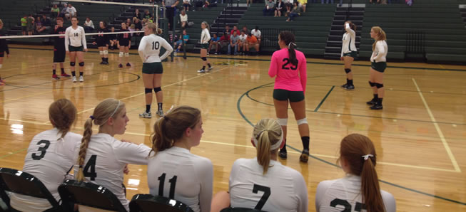 Volleyball team downs Canton, 3-0