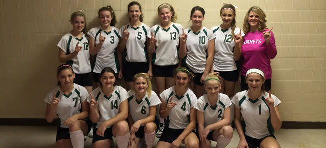 MS volleyball finishes undefeated season