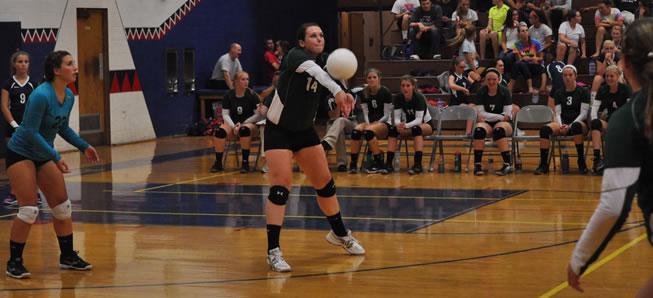 Hornet Volleyball tops Sayre, 3-0