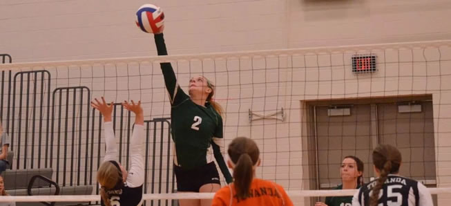 Volleyball team falls to Towanda in four