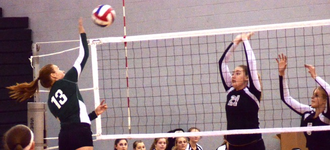 Hornet Volleyball tops Athens in 3 sets