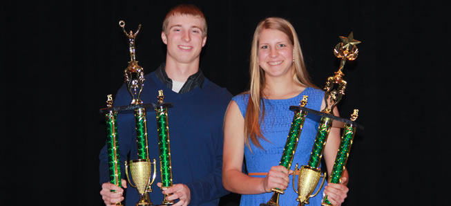 Prough, Ingerick named Athletes of the Year.