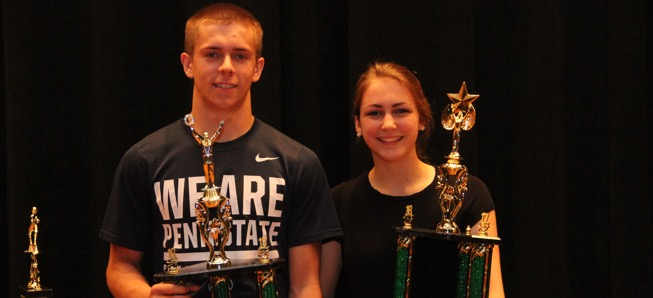 Lamphier, Davis named Athletes of the Year.