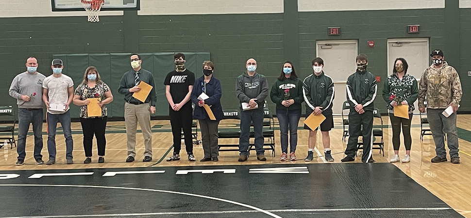 Hornet wrestlers fall to Jersey Shore on Senior Night