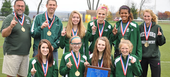 XC Girls win, Boys 4th at Districts